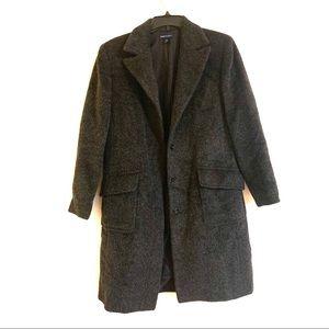 Anne Klein Wool Alpaca Mohair Full Length Jacket